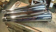 "Chopper Trumpet Exhaust Tips 16"" Harley Triumph Bsa Bobber Shovelhead Ironhead"