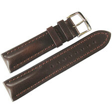 22mm Hirsch Lucca Mens Brown Tuscan Leather Made in Austria Watch Band Strap