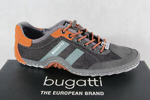 Bugatti Men's Sneakers Shoes Lace-Up Slippers Grey 92402 New