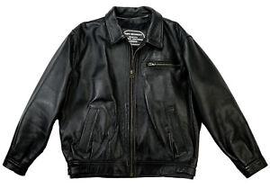 KEN MARKET Highwayman Biker Motorrad Harley Leather Lederjacke Schwarz 52 L