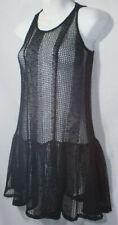 Vintage 90s BCBG Mini Skirt Dress Swimsuit Cover Pool Side Mesh Crochet Lace XXS