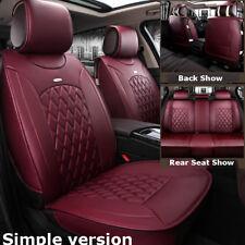 Standard Wine Red Car Leather Seat Covers For Hyundai Elantra Sonata Kia Optima