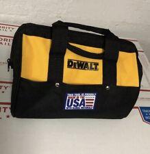 """New Dewalt N037466 Heavy Duty Ballistic Nylon Tool Bag 13"""" w/ Runners"""
