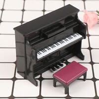 1:12 Dollhouse Furniture Miniature Wooden Mini Grand Piano Kids Pretend Play  Pg