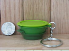 Tupperware Key Chain Smart Steamer Green Keychain Collectible New in Package