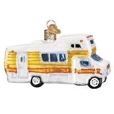 CLASSIC MOTORHOME RV CAMPER WINNEBAGO OLD WORLD CHRISTMAS GLASS ORNAMENT 46069