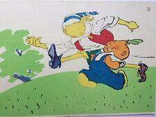 Künstlerkarte Pinocchio   Buratino mit Onion boy  Märchen  ca 1960