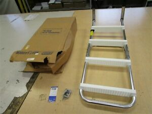 "GARELICK EEZ IN 12150 FOLDING 4 STEP PONTOON LADDER 43"" H X 15"" W X 7"" D BOAT"