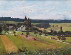 Blick auf Wyden in der Schweiz - Carl von Häberlin 1903