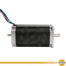 1PC Nema23 Schrittmotor 23HS2442B 4.2A 112mm 425oz-in 3Nm Dual Shaft Bipolar