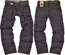 Timezone Hose Benito 9033 blue graphite Herren Cargohose Stoffhose Outdoor Jeans