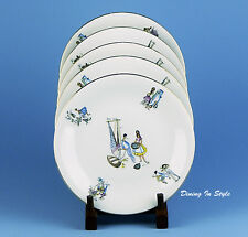 Set: 5 Salad / Dessert Plates, Winterling Bavaria, Mediterranean / Latin WIG564