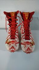 Men's Under Armour Highlight MC Lacrosse Cleats-White/Red/Taxi- Size 13