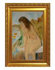 FRENCH SCHOOL DRAWING/Painting signed  R like RENOIR? PARIS Stamp IMPRESSIONIST