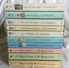10 Anne, Rilla, Emily PBs by L. M. Montgomery: Green Gables, Avonlea, Ingleside,