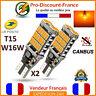 2 x ampoule LED T15 W16W 4014 Orange CANBUS ANTI ERREUR Voiture Clignotant