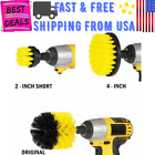 3Pcs Drill Brushes Kit Scrubber Cleaner Yellow Brush Save Time For Best Car Bath