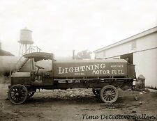 Lightning Motor Fuel Gasoline Truck, Washington, D.C. c1920 Historic Photo Print