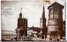Postkarte 1923 -  DÜSSELDORF - Rheinpartie mit Schloßturm und Düsselschlößchen