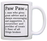 Funny Paw Paw Gifts Paw Paw Grandpa Definition Fathers Day Coffee Mug Tea Cup