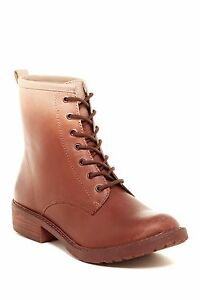 New Lucky Brand Novembere Lace-Up leather  Boots women's sz 7