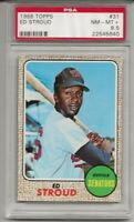 1968 TOPPS #31 ED STROUD , PSA 8.5 NM-MT+, SET BREAK- WASHINGTON SENATORS, L@@K
