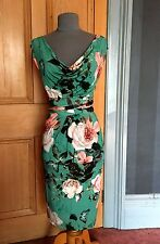 """Vestido de noche Rosa Hermosa Phase Eight """"Botánica"""" imprimir, talla 16"""