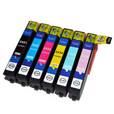 24XL Multipack 6 Ink Cartridges Full Set 24 Elephant Non OEM For Epson Printers
