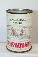Vintage California Canned Earthquake Novelty Souvenir Tin Can - WORKS!