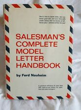 Salesman's Complete Model Letter Handbook by Fred Nauheim (1967, Hardcover)