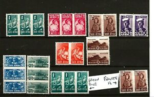 SOUTH AFRICA  (Z208A) 1942 SG97-104 WAR  SET OF 8 + 2 EXTRAS VERY  FINE MM / MH
