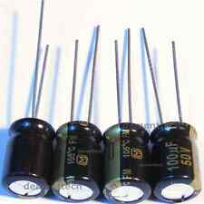 4x Panasonic FM 100uF 50v Low-ESR radial capacitors caps 105C 8mm 8x11.5