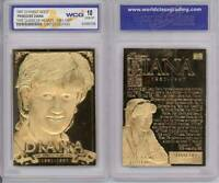 PRINCESS DIANA 1961-1997 Sculptured 23KT Gold Card Graded GEM MINT 10 * BOGO *