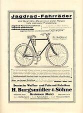 Burgsmüller Kreiensen Waffe Fahrrad Gewehr Reklame 1924 (N)
