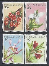 1986 PAPUA NEW GUINEA ORCHIDS SET OF 4 FINE MINT MUH/MNH