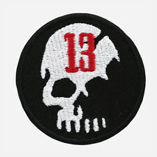 13 Skull Embroidered Biker Patches