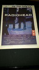 Radiohead My Iron Lung Rare Original U.K. Tour Promo Poster Ad Framed!
