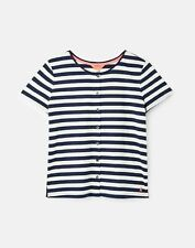 Joules  Marsha Button Through T-Shirt - French Navy Stripe