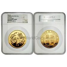 Singapore 1988 Dragon 5 oz Gold NGC PF65 ULTRA CAMEO