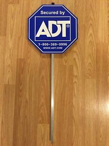 NEW 2018 ADT SECUITRY YARD SIGN AND NO FREE STICKERS WATERPROOF & UV RESISTANT