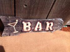 "Bar This Way To Arrow Sign Directional Novelty Metal 17"" x 5"""