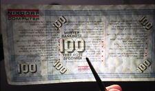 Hundert Deutsche Mark m Wasserzeichen Orig. Testgeld Geldschein Deutschland Geld