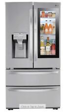 LG 28 cu ft. Smart InstaView Door-in-Door Double Freezer Refrigerator with Craft