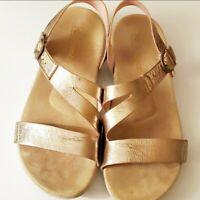 Spenco Gold Strappy Sandal. Size 9.