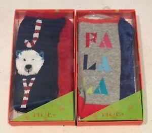 Hue Women's 2- 2-Packs 4-Pairs Footsie Socks Gift Box Sets, FaLa & Polar Bear