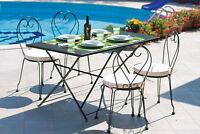 tavolo tavolino rettangolare Apollo cm 140x80x74h pieghevole per esterno