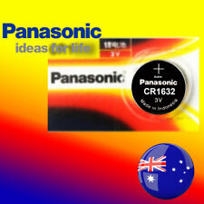 2 x Panasonic CR1632 Battery Blister Packing Lithium Cell Button Batteries Local