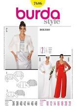BURDA SEWING PATTERN LADIES BOLERO sizes 10 - 22 7686