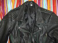 vintage RICHA Motorradjacke Lederjacke oldschool motorcycle leather jacket 36 S