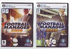 FOOTBALL MANAGER 2009 & FOOTBALL MANAGER 2010 - 2 PC & MAC GAMES - COMPLETE